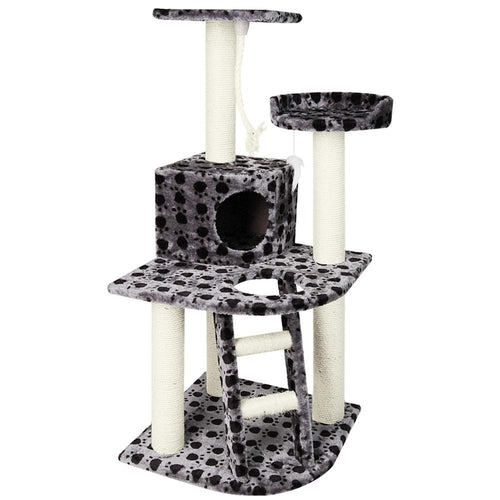 Luxury Cat Tree Condo and Scratching Post Black Grey - Cat Lovers Australia