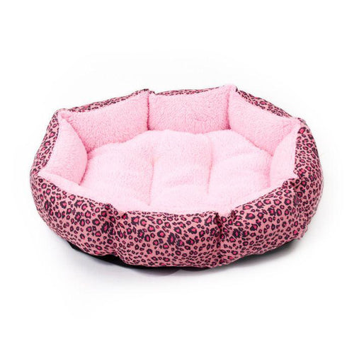 Colourful Leopard Print Cat Bed (More Colours) - Cat Lovers Australia