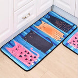 Bathroom, Laundry or Kitchen Mat with Cat Print (More Sizes) - Cat Lovers Australia