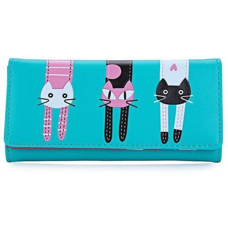 Mini Three Cats Purse - Black & Pink