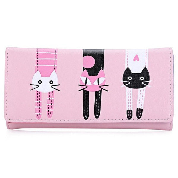 Three Cats Wallet (More Colours) - Cat Lovers Australia