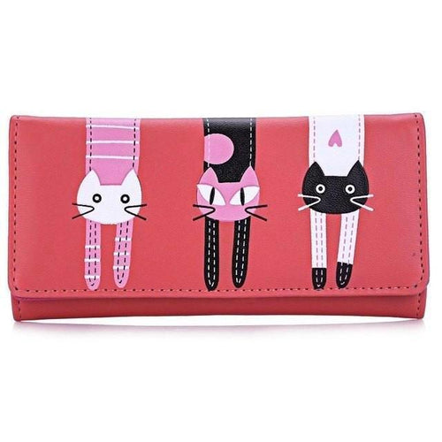 Three Cats Purse (More Colours) - Cat Lovers Australia