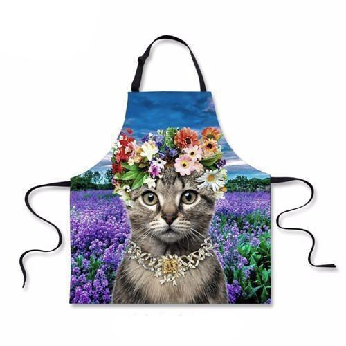 Cat Print Apron (More Designs) - Cat Lovers Australia