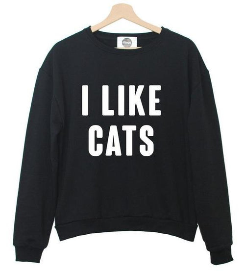I Like Cats Casual Jumper (More Colours) - Cat Lovers Australia