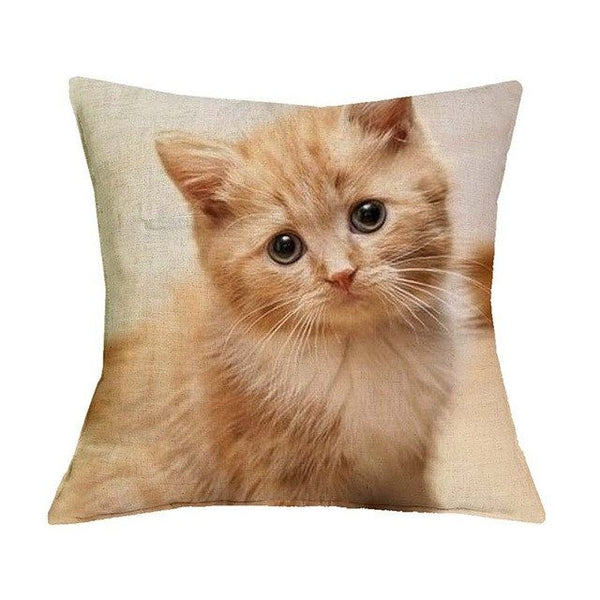 Cat Design Cushion Cover - Cat Lovers Australia