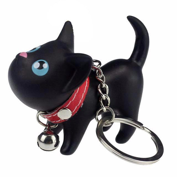 Cat with Little Bell Key Ring - Cat Lovers Australia