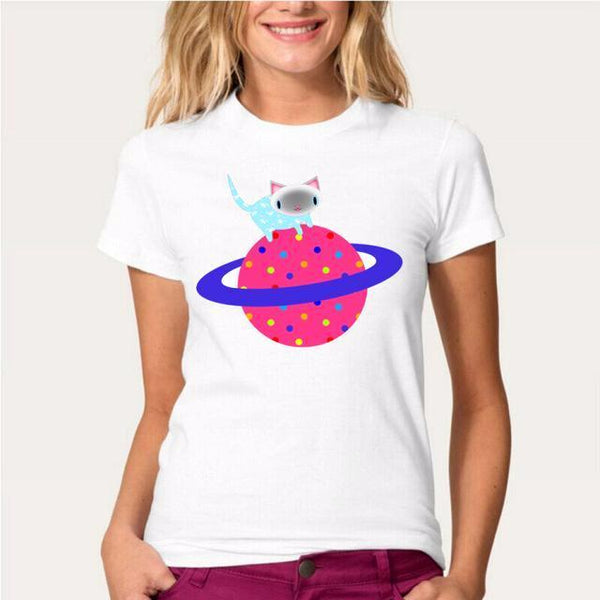 Kitten Planet Women's T-Shirt - Cat Lovers Australia