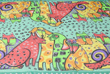 Women's Chiffon Scarf/Shawl with Cat and Dog Pattern (More Colours) - Cat Lovers Australia