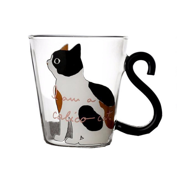 I am a Calico Cat Glass Cup - Cat Lovers Australia