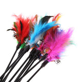 Colourful Feather Wand Cat Toy - Cat Lovers Australia
