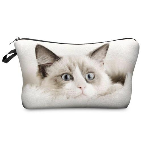 Grey Cat Makeup Bag - Cat Lovers Australia