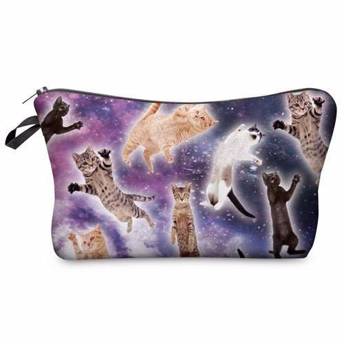 Space Kitties Makeup Bag - Cat Lovers Australia