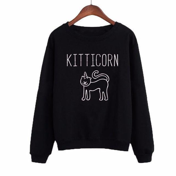 Kitticorn Casual Jumper (More Colours) - Cat Lovers Australia