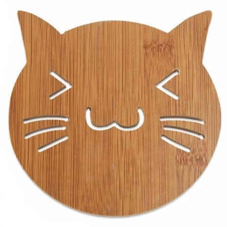 Large Wooden Cat Coaster - Cat Lovers Australia