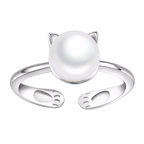 Pearl Cat Ring - Cat Lovers Australia