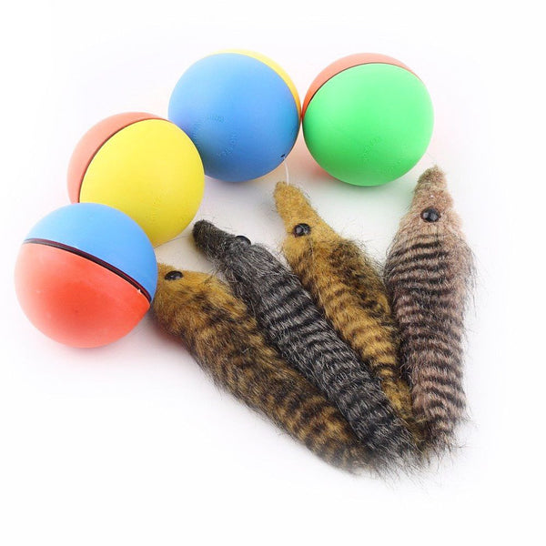 Rolling Weasel Ball Cat Toy - Cat Lovers Australia