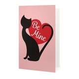 'Be Mine' Cat Valentine's Day Card - Cat Lovers Australia