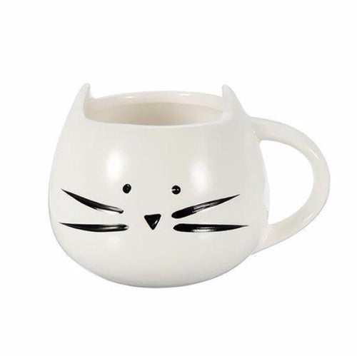 Cat Face - Novelty Cat Mug - White - Cat Lovers Australia