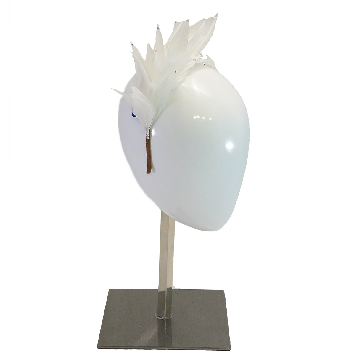 Flutter in White by Louise Georgette Millinery