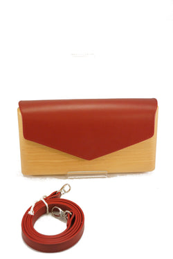 Lemnia Handcrafted Wooden Clutch