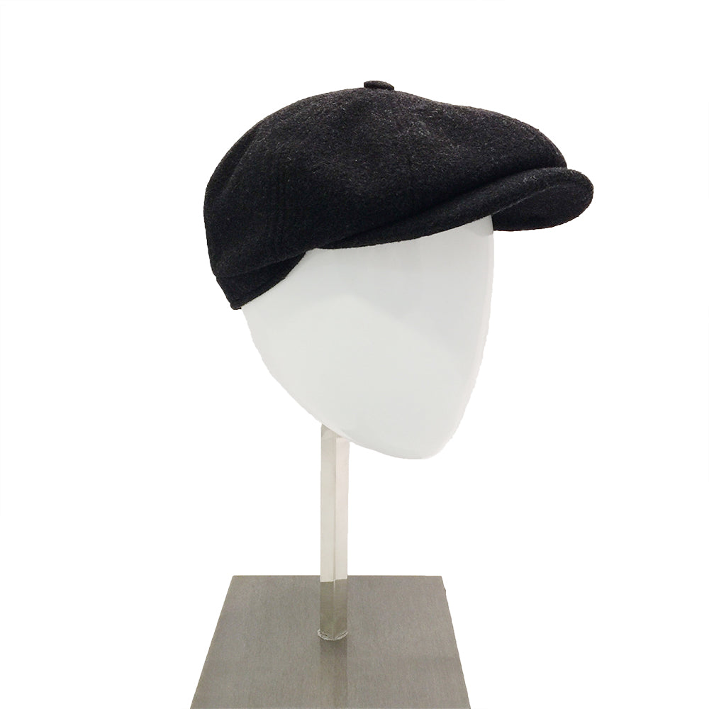 Wool Baker Cap - Dark Grey