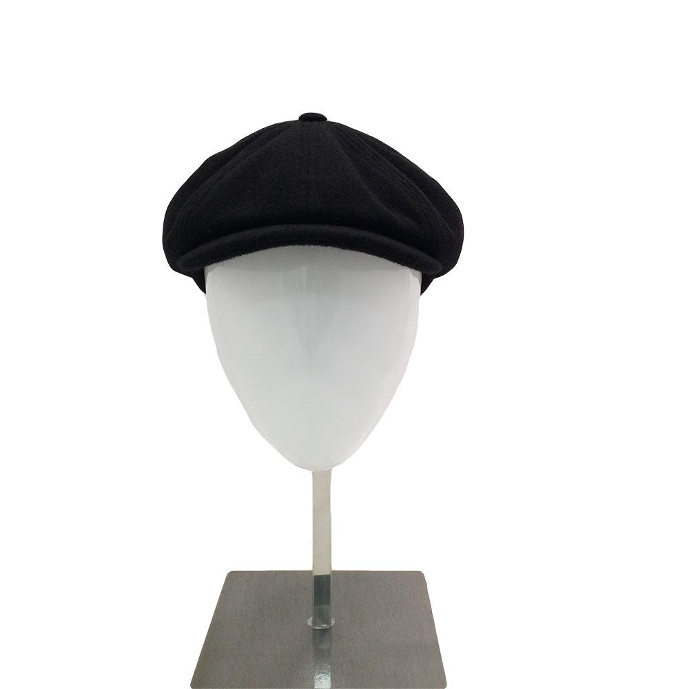 Wool Baker Cap - Black