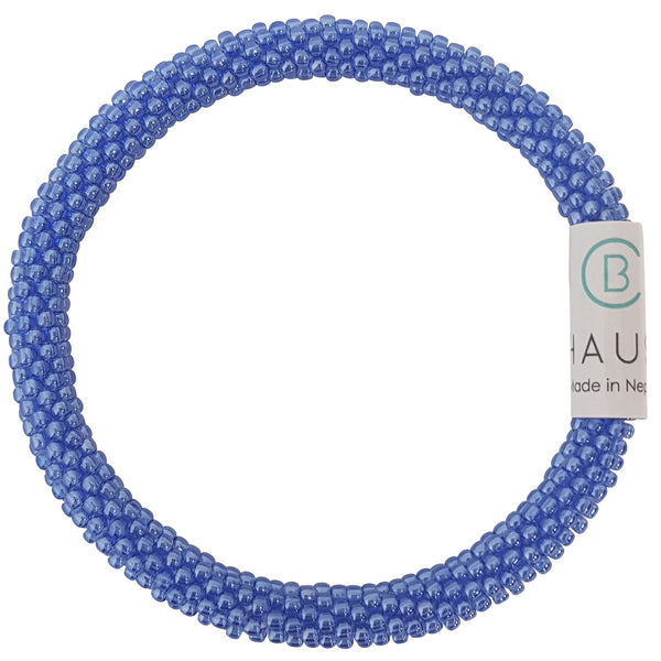 Cobalt Lustered Roll - On Bracelet - Chausie