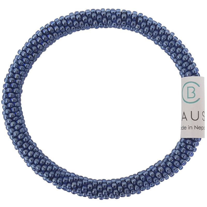 Cobalt Lustered Dark Roll - On Bracelet - Chausie