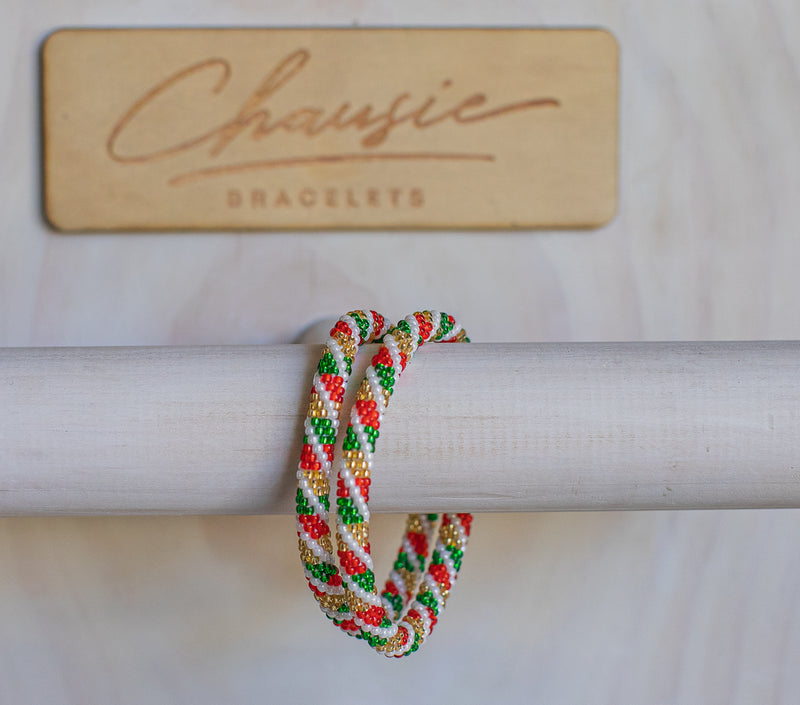 "Christmas ""Candy Shop"" Roll - On Bracelet"