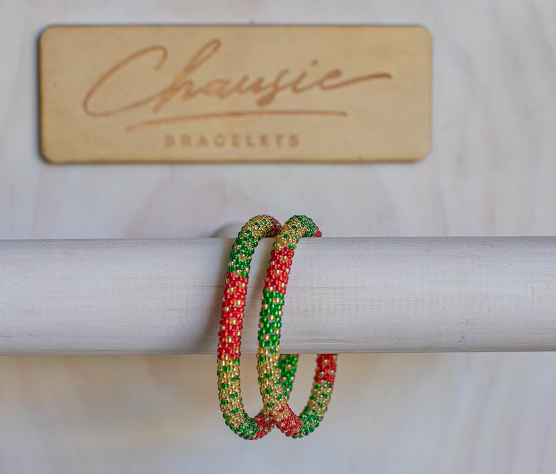 "Christmas ""Jingle Jangle"" Roll - On Bracelet"