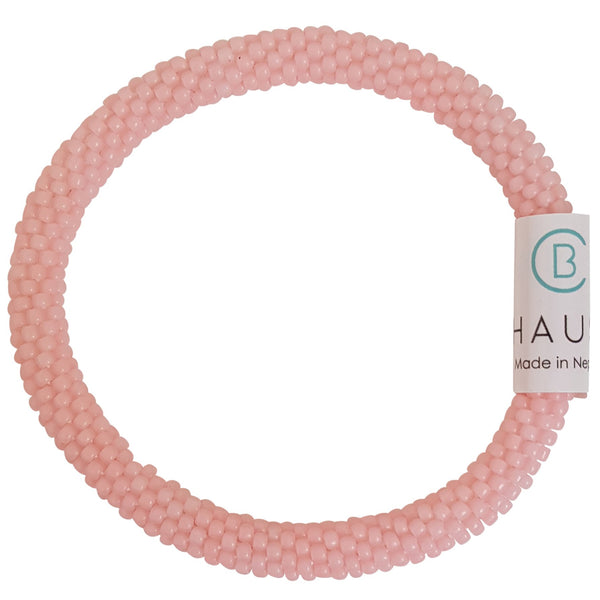 Innocent Pink Frosted Roll - On Bracelet
