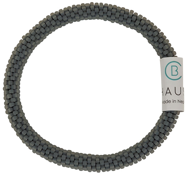 Grey Frosted Roll - On Bracelet - Chausie