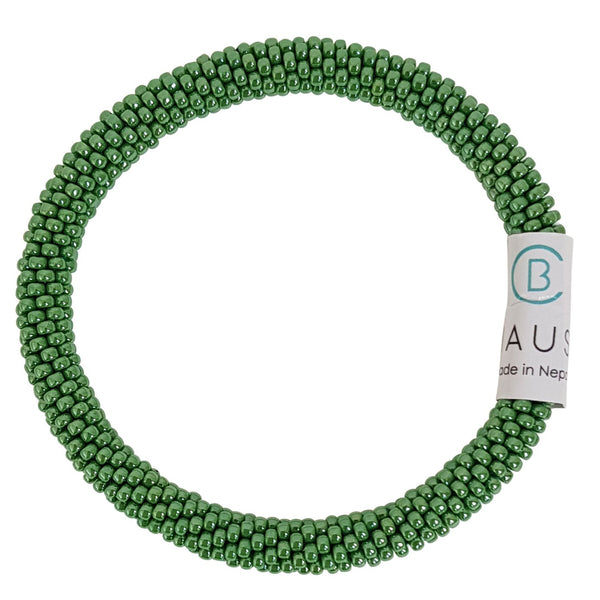 Lustered Mint Green Roll - On Bracelet - Chausie