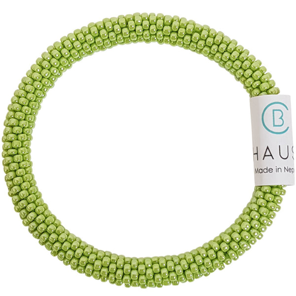 Lustered Sour Apple Roll - On Bracelet