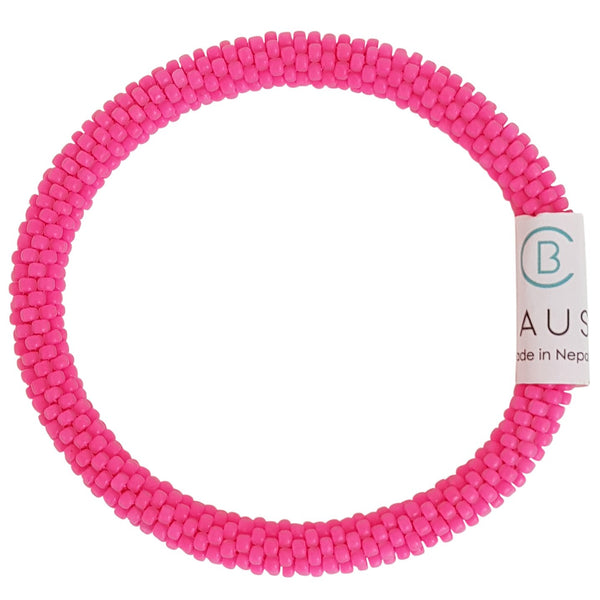 Hot Pink Matte Roll - On Bracelet