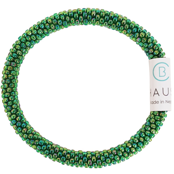 Rainbow Grass Green Roll - On Bracelet - Chausie