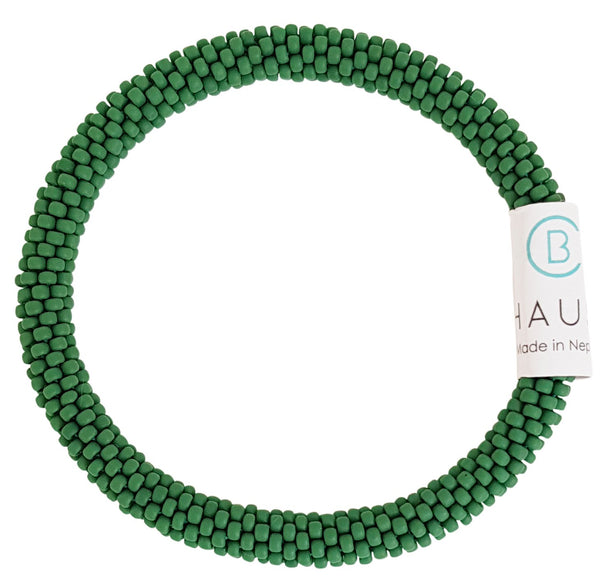 Pine Green Matte Roll - On Bracelet