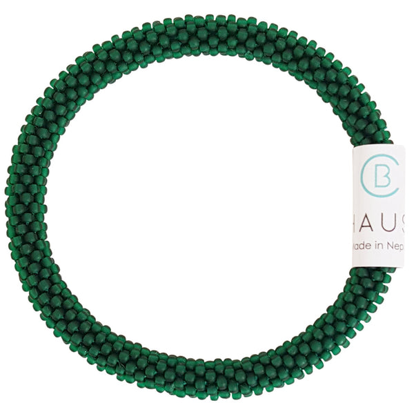 Emerald Green Matte Roll - On Bracelet - Chausie