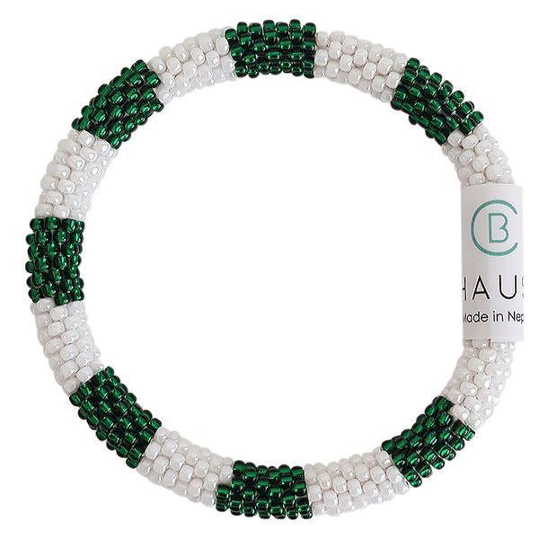 """Arcee Green Roll - On Bracelet - Chausie"