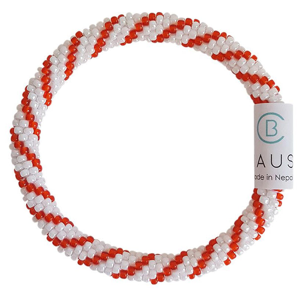 "Christmas ""Candy Cane"" Roll - On Bracelet"