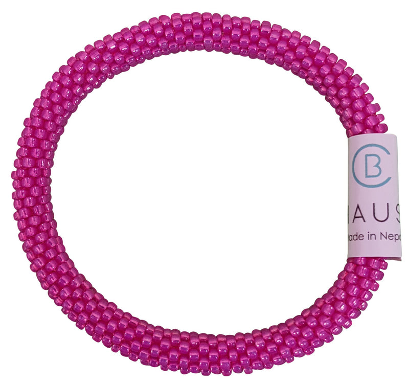 Milky Hot Pink Roll - On Bracelet