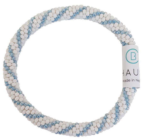 """Bailey"" Blue Roll - On Bracelet"