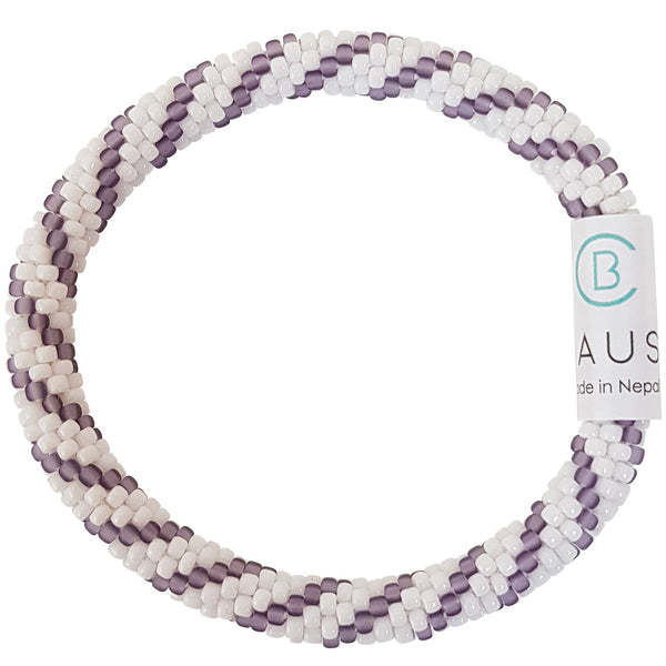"""Bailey"" Purple Roll - On Bracelet"