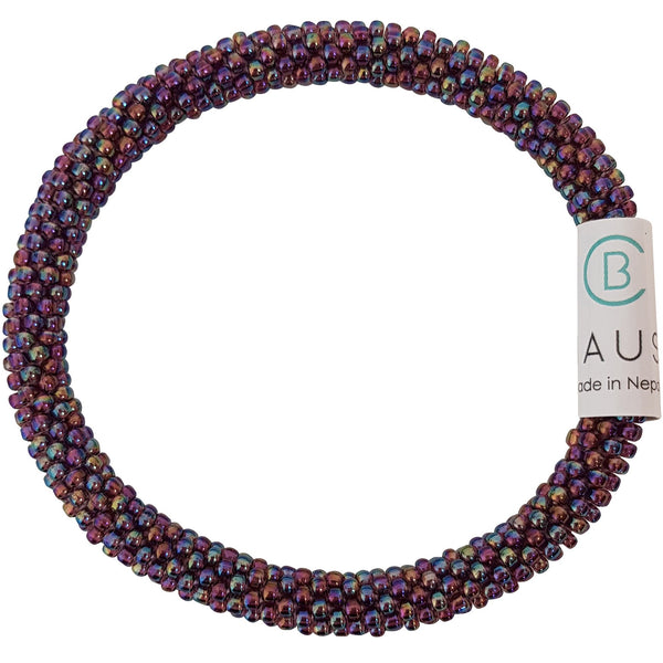 Rainbow Amethyst Roll - On Bracelet - Chausie