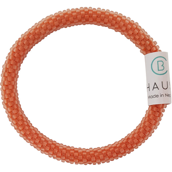 Orange Frosted Rosaline Roll - On Bracelet