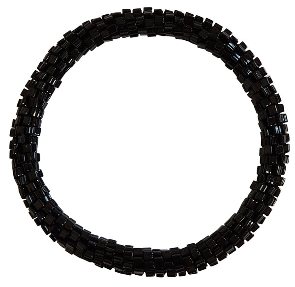 Black Jet Glitz Roll - On Bracelet
