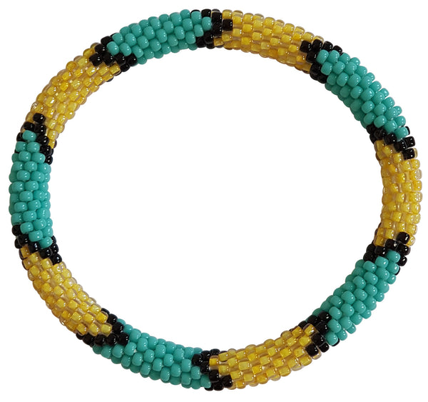 "Stack ""Azure"" Roll - On Bracelet"