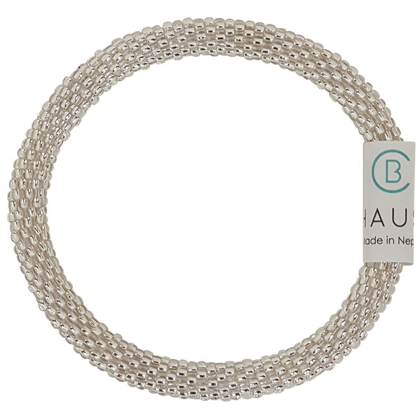 Silver Crystal Roll - On Bracelet