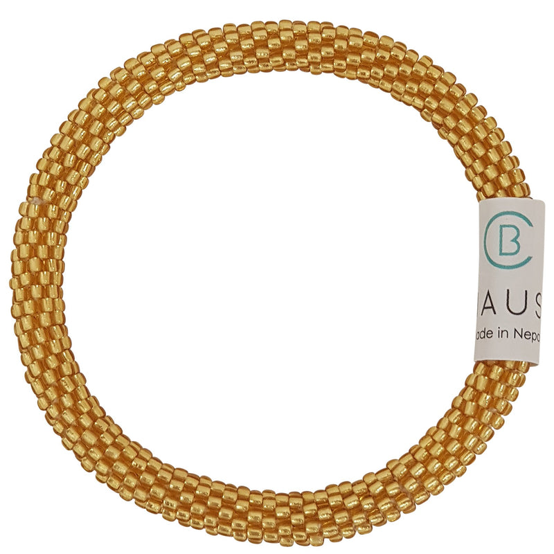 Frosted Gold Roll - On Bracelet - Chausie