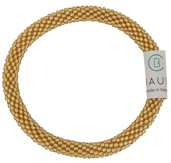 Frosted Light Gold Roll - On Bracelet